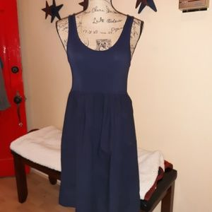 J.Crew tank dress, xs LNC, navy blue